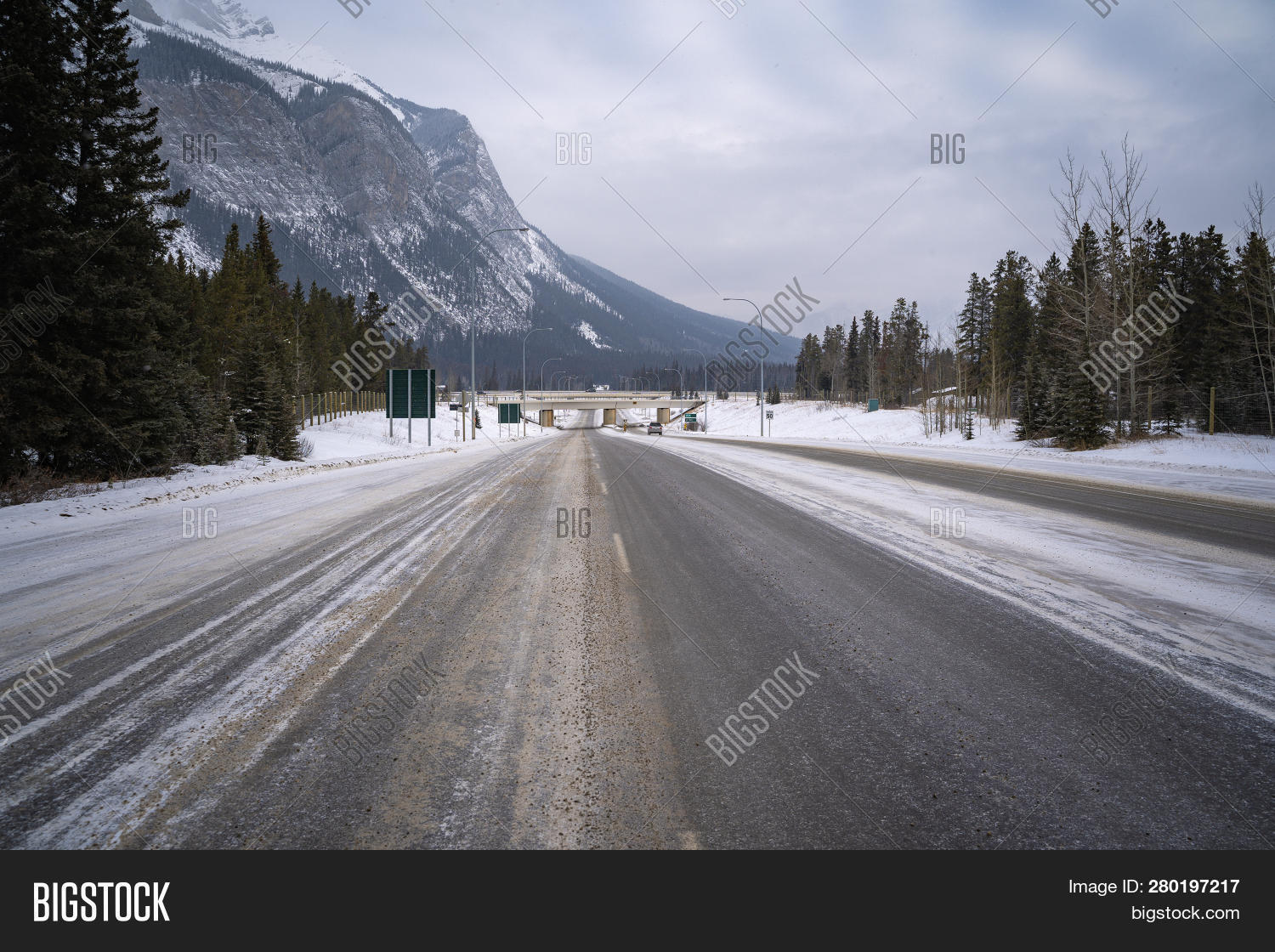 View Icy Snowy Road Image & Photo (Free Trial) | Bigstock