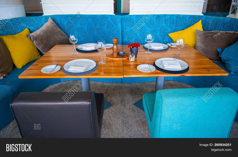 Modern Blue Dining Image Photo Free Trial Bigstock