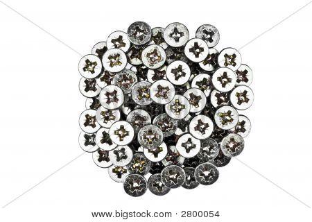 Close-up Of A Bunch Of Sheet Rock Screws
