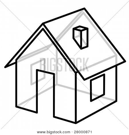 House Wire Frame Vector Photo Free Trial Bigstock