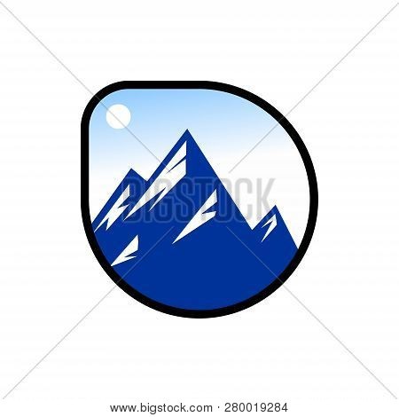 Mountain Icon, Mountain Logo, Mountain Design Vector,  Mountain Logo Template. Vector Design Element
