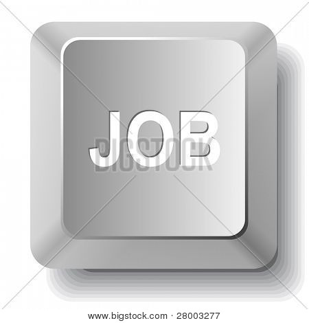 Job. Computer key. Raster illustration.
