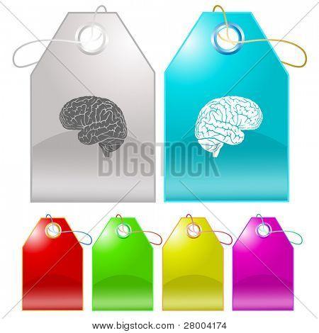 Brain. Raster tags. Vector version is in my portfolio.