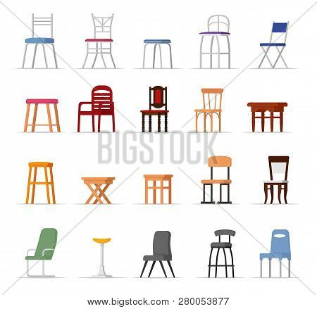 Chair Vector Comfortable Seat In Interior Style Design Of Modern Bar-chair Office-chair And Armchair