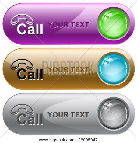 Hotline. Vector internet buttons.