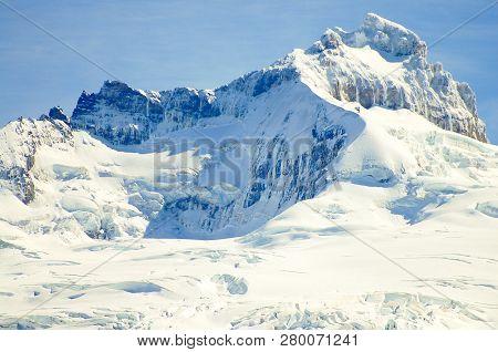 Snow Capped Mount Tronador - Patagonia Region