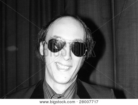 CROYDON, ENGLAND-JUNE 4: Cyril Jordan, lead singer in U.S. pop group The Flamin' Groovies, posing backstage at a performance on June 4, 1978 in Croydon, England.