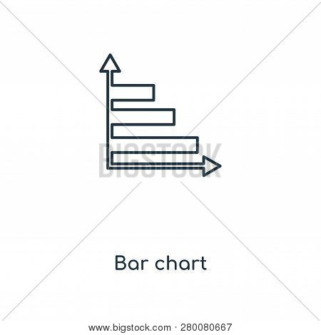 Bar Chart Icon In Trendy Design Style. Bar Chart Icon Isolated On White Background. Bar Chart Vector