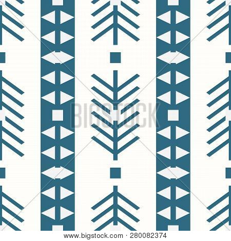 Tribal Pattern Texture With Hand Drawn African, Aztec, Maya Creative Drawing Vector Illustration. Bl