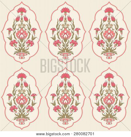 Traditional Floral Seamless Pattern In Islamic Style