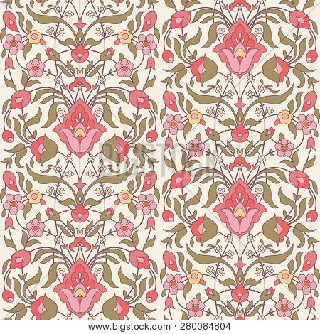 Floral Seamless Pattern In Islamic, Arabic Style