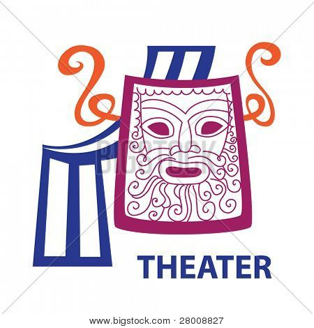 Template icon Art - a symbol of theater. Vector sign.