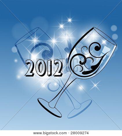 Wine glass celebration 2012 celebration
