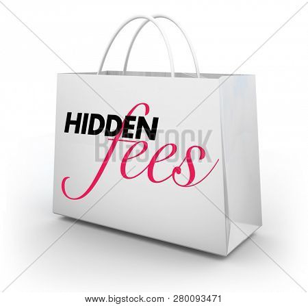 Hidden Fees Costs Penalties Shopping Bag 3d Illustration
