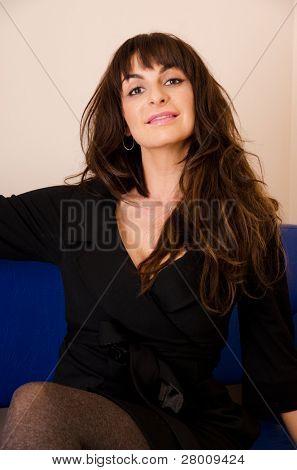 BARNAUL, RUSSIA - NOVEMBER 12: Ekaterina Varnava famous artist and member of the famous humor show
