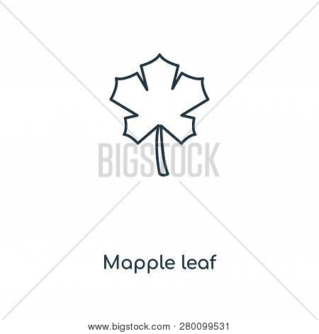 Mapple Leaf Icon In Trendy Design Style. Mapple Leaf Icon Isolated On White Background. Mapple Leaf