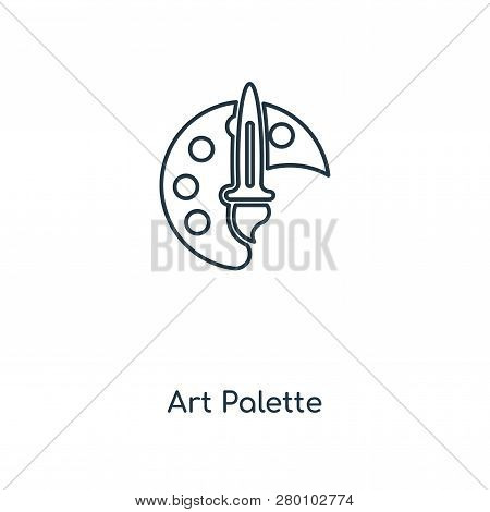Art Palette Icon In Trendy Design Style. Art Palette Icon Isolated On White Background. Art Palette