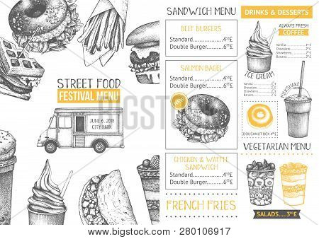 Food Festival Menu Design