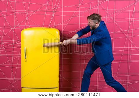 By Force Or Persuasion. Sexy Man In Stylish Jacket. Confident Businessman In Suit. Businessman With