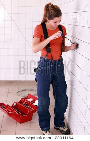 young handywoman