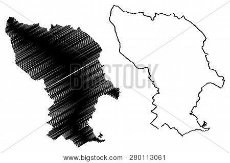 Bratislava City (slovakia, Slovak Republic City) Map Vector Illustration, Scribble Sketch City Of Br