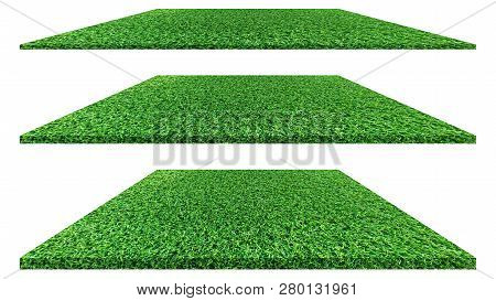 Grass Texture Isolated On White Background. Grass Texture Or Grass Background. Green Grass For Golf