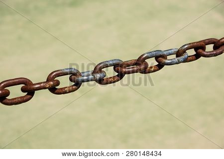 Steel Chain, Rusty Chains Old Metal Chain