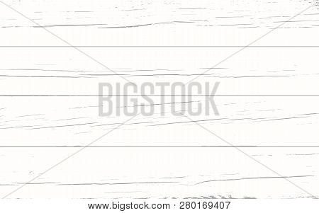Vector Light Wood Background Table, Top View. Rustic Wooden Wall Texture. Surface With Old Natural W