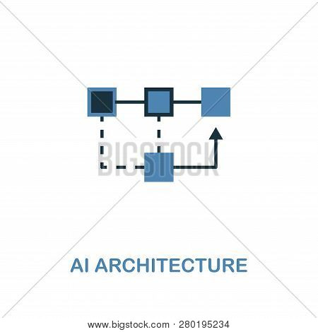 Ai Architecture Icon In Two Colors Design. Premium Style From Artificial Intelligence Icon Collectio