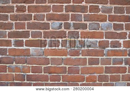red rectangle brick wall or masonry or tessellation poster