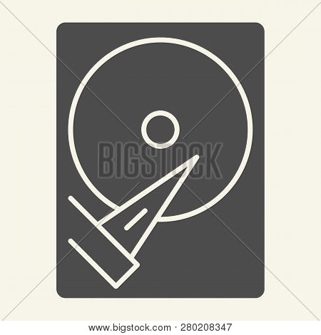 Hard Disk Solid Icon. Storage Vector Illustration Isolated On White. Hard Drive Glyph Style Design,
