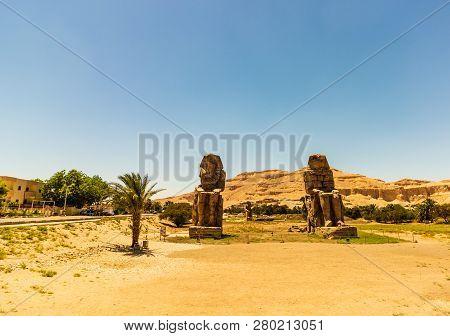 Egypt. Luxor. The Colossi Of Memnon