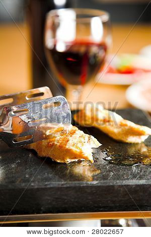 grilled meat on the table