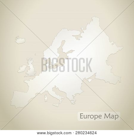 Europe Map Old Paper Vector & Photo (Free Trial) | Bigstock