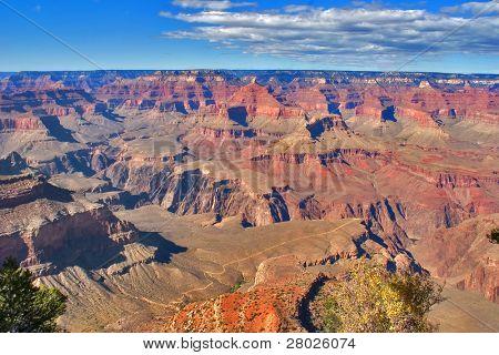 A grandiose landscape of the Grand Canyon in the USA