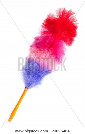 Soft Colorful Duster With Plastic Handle
