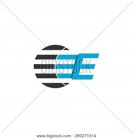 Business Logo Design, Letter E Graphic Logo. Initial Letter E Graphic Logo Template, Isolated On Whi