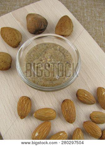 Fresh Homemade Dark Almond Mus In A Little Bowl