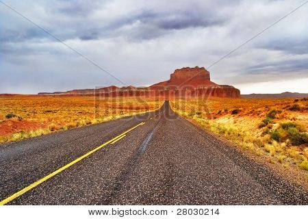 Road to the  Monuments Valley in the USA