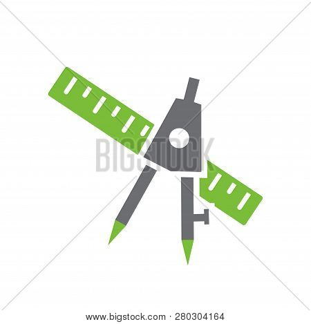 Shool Supplies Icon On White Background For Graphic And Web Design, Modern Simple Vector Sign. Inter