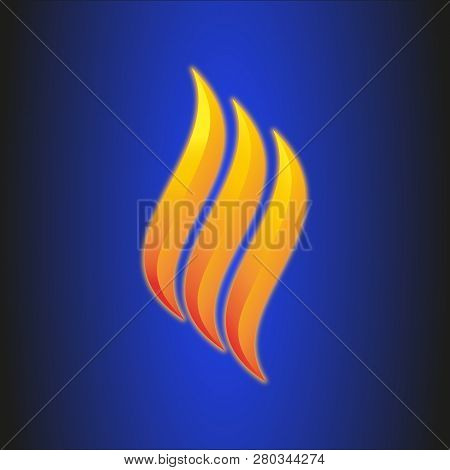 Flame Logo Vector Template. Fire Logo Design Graphic. Torch Logo Design Element. Fire Icon, Fire Ico