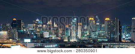 Night Of The Metropolitan Bangkok City Downtown Cityscape Urban Skyline  Thailand - Cityscape Bangko