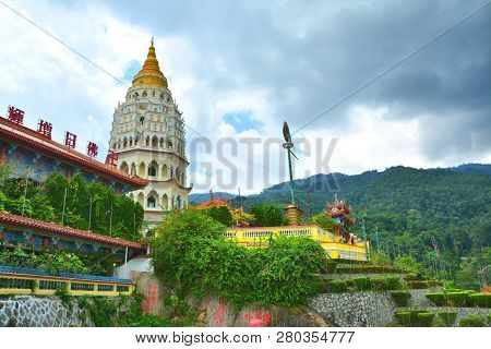 Buddhist Temple In Georgetown On Penang Island, Malaysia