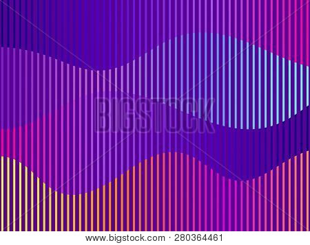 Liquid Wave, Violet Gradient. Modern Trend Background. Synthwave, Futurism Background. Retrowave. Ve