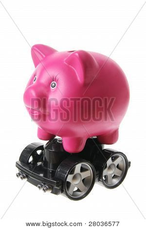 Piggy Bank With Wheels