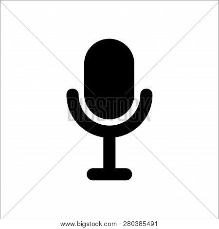 Microphone Vector Icon On White Background. Microphone Icon In Modern Design Style. Microphone Vecto