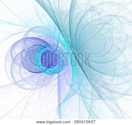Abstract Fractal Color Texture. Digital Art. Abstract Form & Colors. Abstract Fractal Element For Yo
