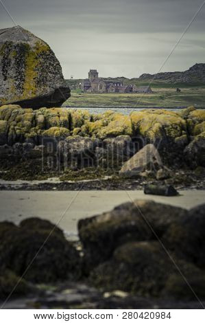 Iona Abbey From The Isle Of Mull