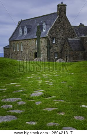 Street Of The Dead Funeral And Pilrgrim Procession Pathway Leading To Iona Abbey