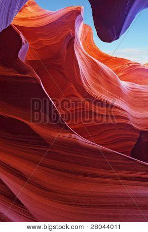 Scenic color slot Antelope canyon . Navajo Reservation, USA